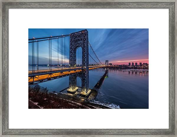 Gwb Sunrise Framed Print
