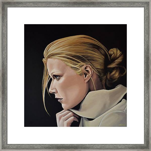 Gwyneth Paltrow Painting Framed Print