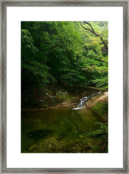 Gyeryongsan Stream And Pool Framed Print