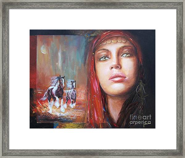 Gypsy Beauty Framed Print
