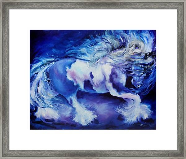 Gypsy Vanner In Blue Framed Print