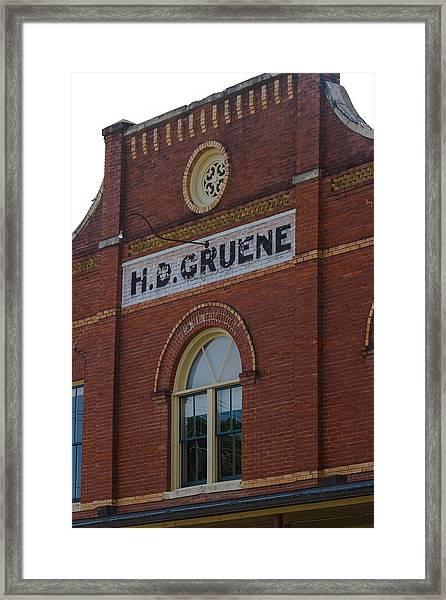 H D Gruene Framed Print