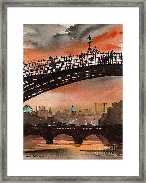 F 763 Ha Penny Bridge  Dublin 1 Framed Print