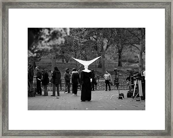 Framed Print featuring the photograph Habit In Central Park by Lorraine Devon Wilke