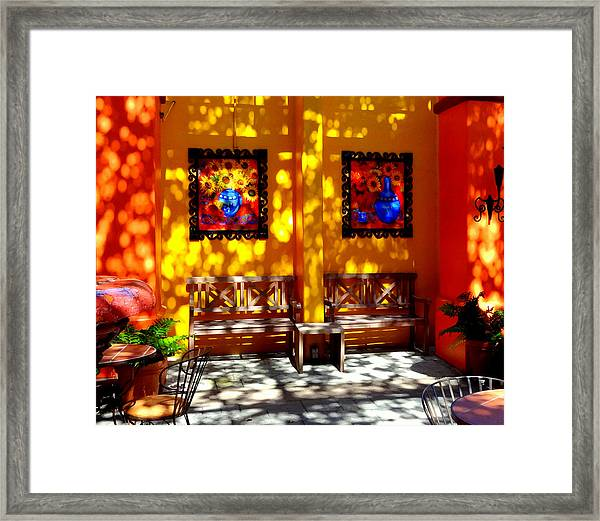 Hacienda Benches Framed Print