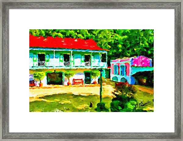 Hacienda Framed Print