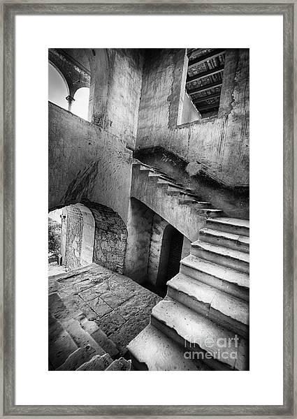 Hacienda Stairwell Framed Print