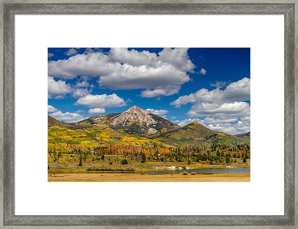 Hahn Peak And Steamboat Lake State Park Framed Print