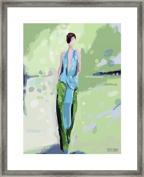 Haider Ackermann Fashion Illustration Art Print Framed Print