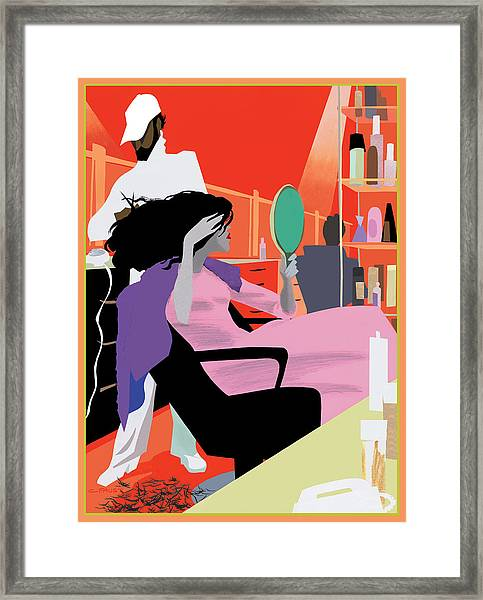 Hair Salon Framed Print