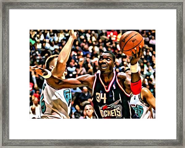 Hakeem Olajuwon Framed Print