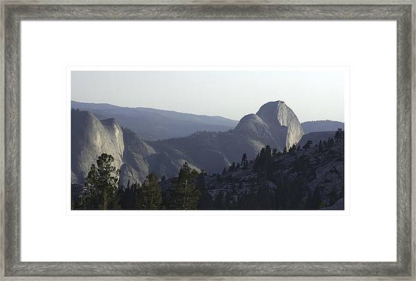 Half Dome From Olmsted Pt Framed Print