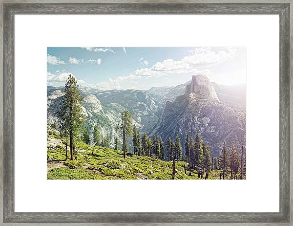 Half Dome In Yosemite With Foreground Framed Print