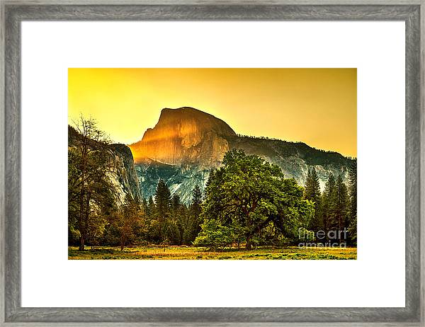 Half Dome Sunrise Framed Print