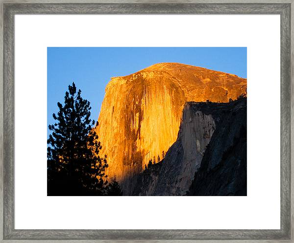Half Dome Yosemite At Sunset Framed Print