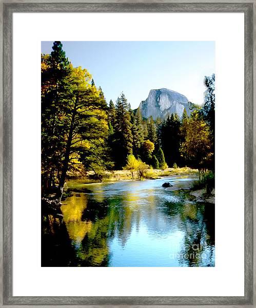 Half Dome Yosemite River Valley Framed Print