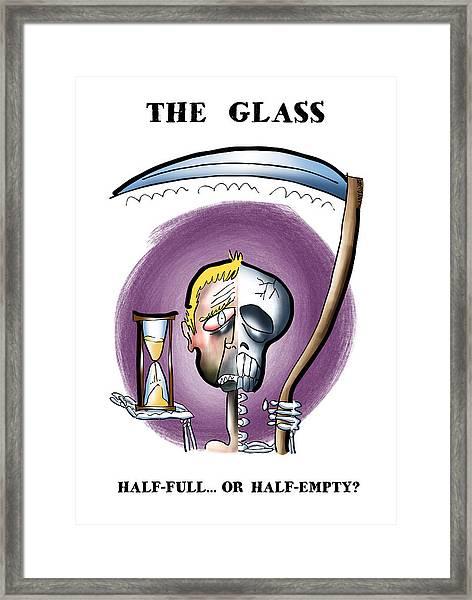 Half Full Or Half Empty Framed Print