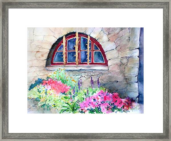 Half Moon Window Framed Print