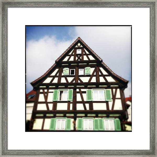 Half-timbered House 01 Framed Print