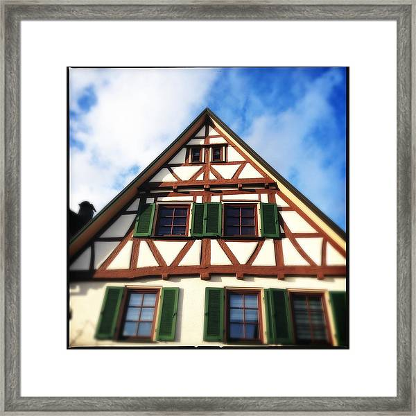 Half-timbered House 02 Framed Print