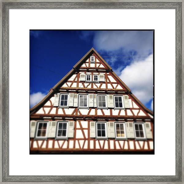 Half-timbered House 03 Framed Print
