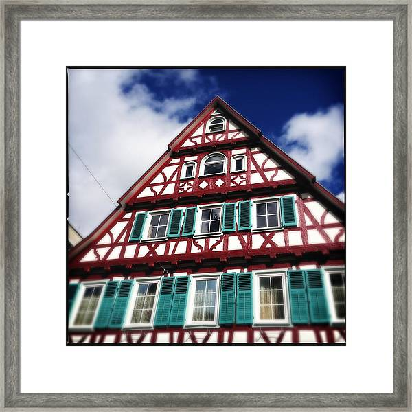 Half-timbered House 04 Framed Print