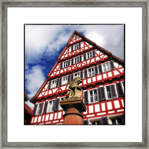Half-timbered House 07 Framed Print