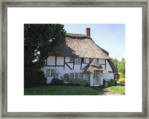 Half-timbered Thatched Cottage Framed Print