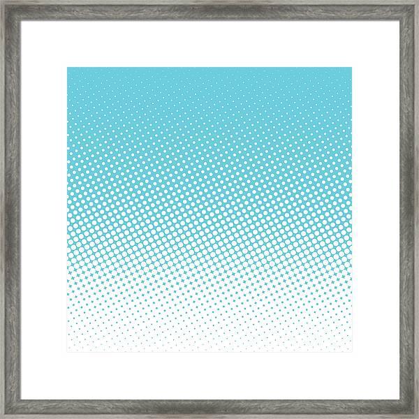 Halftone Background, Pop Art Design Framed Print