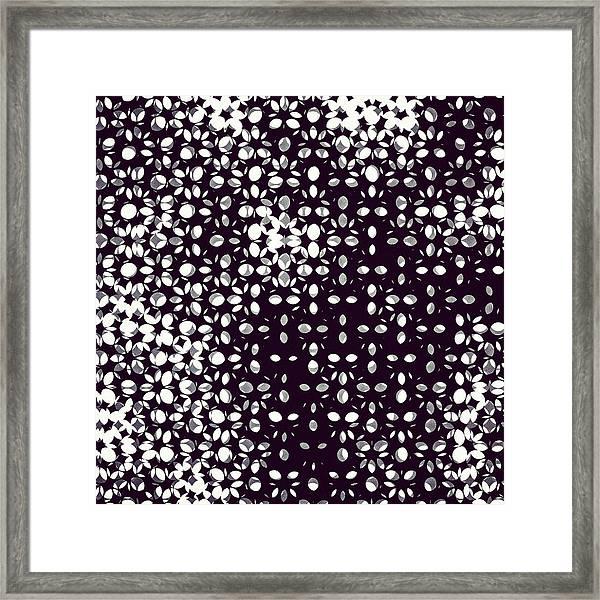 Halftone Framed Print