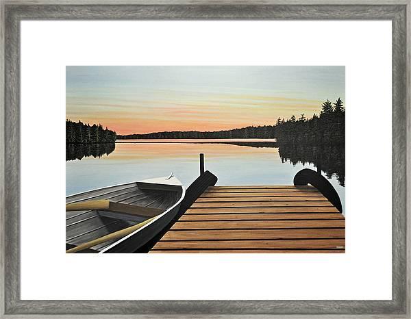 Haliburton Dock Framed Print