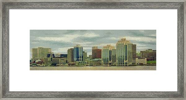 Halifax From The Harbour Framed Print