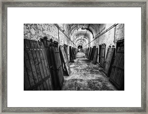 Hall Of Doors Framed Print