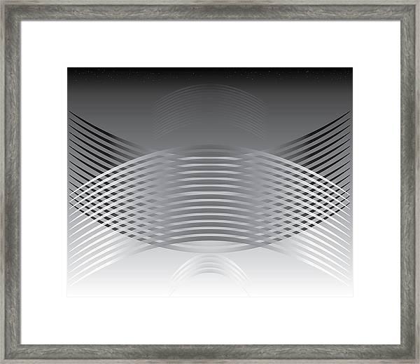 Hallenwave Framed Print