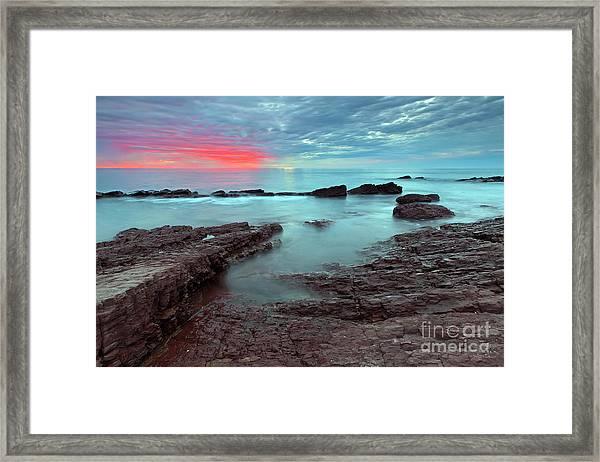 Hallett Cove Sunset Framed Print