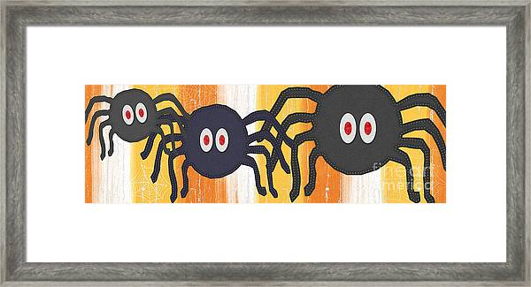 Halloween Spiders Sign Framed Print