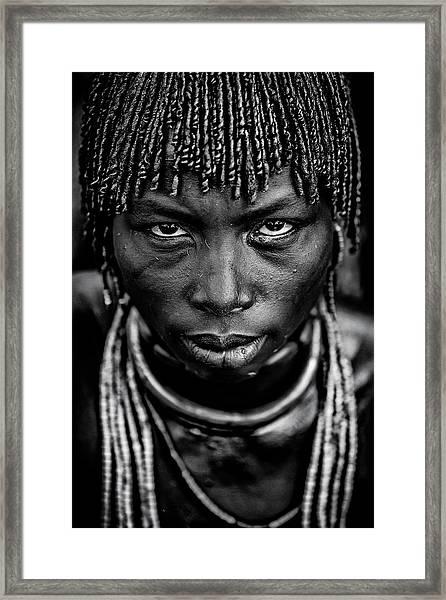 Hamar Woman Framed Print by Vedran Vidak