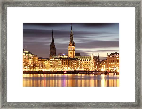 Hamburg Christmas Framed Print