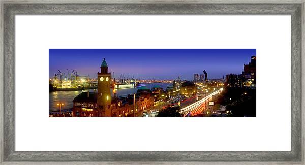 Hamburg Landing Stages Framed Print