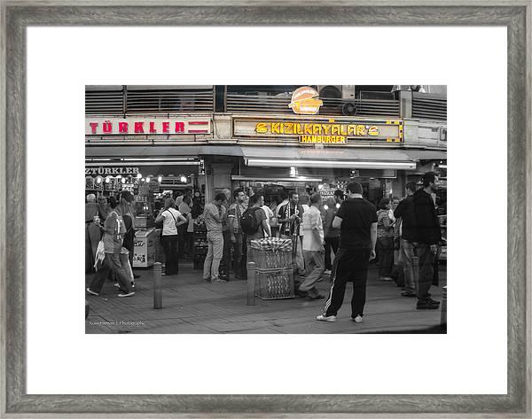 Hamburger Across The World Framed Print