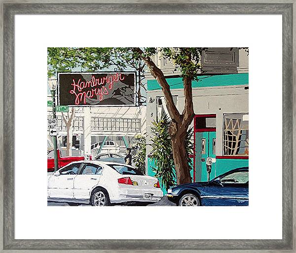 Hamburger Mary's Framed Print by Paul Guyer
