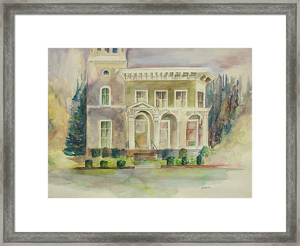 Framed Print featuring the painting Hamden House by Lynn Buettner