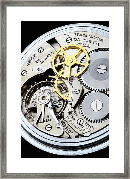 Vintage Pocket Watch Framed Print