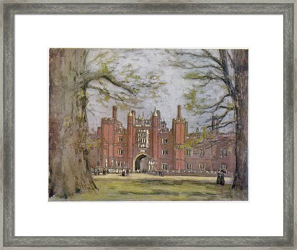 Hampton Court, West London, Showing Framed Print by Mary Evans Picture Library