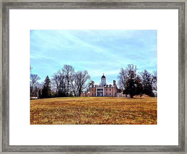 Hampton Mansion Framed Print