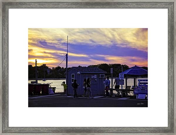 Hamptons Sundown Framed Print