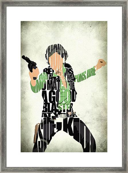 Han Solo From Star Wars Framed Print