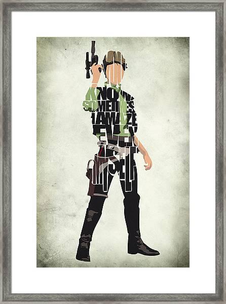 Han Solo Vol 2 - Star Wars Framed Print