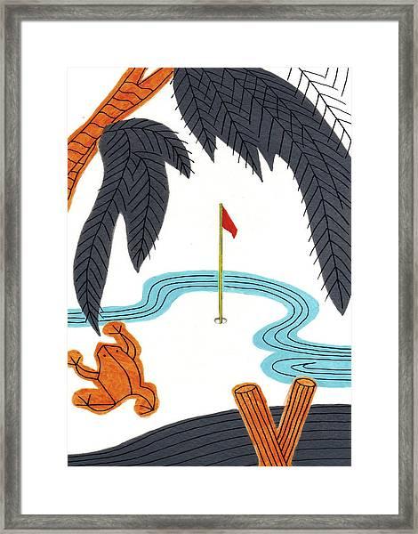 Hanafuda Golf For Cards Framed Print