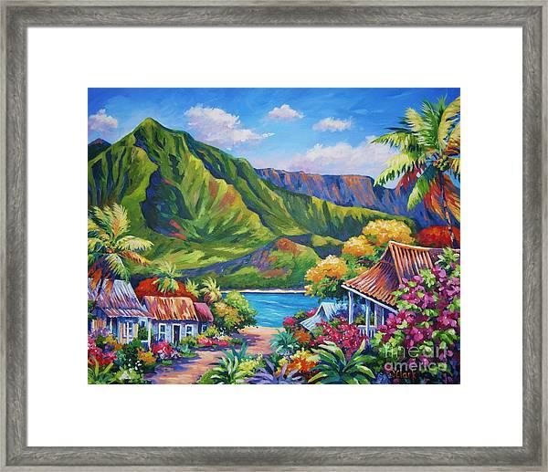 Hanalei In Bloom Framed Print